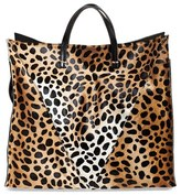 Clare Vivier Genuine Calf Hair Cheetah Print Tote - Brown