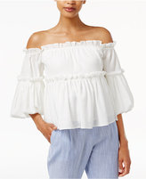 J.o.a. Ruffled Off-The-Shoulder Top