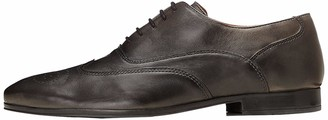 Find. Men's Brogues in Leather Lace-Up with Subtle Perforations