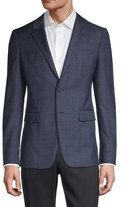 Theory Standard-Fit Windowpane Wool-Blend Jacket