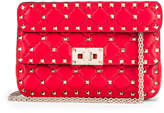 Valentino Rockstud Leather Spike Chain Shoulder Bag in Red | FWRD