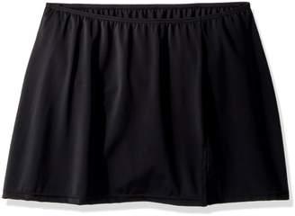 Fit 4 U Women's Solid Fit 4 Ur Hips Skirted Bikini Bottom with Slit