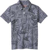 Joe Fresh Kid Boys' Tropical Print Polo, Dark Blue Mix (Size M)