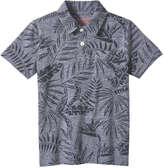 Joe Fresh Kid Boys' Tropical Print Polo, Light Grey Mix (Size S)