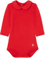 Petit Bateau Onesie with a Peter Pan collar