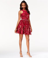 Say Yes to the Dress Juniors' Sequined Embroidered Dress, A Macy's Exclusive