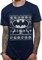 Batman Men's Fair Isle Logo Short Sleeve T-Shirt