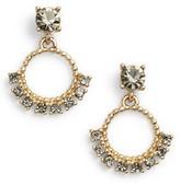 Marchesa Women's Imitation Pearl & Crystal Drop Earrings