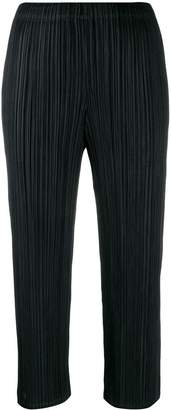 Pleats Please Issey Miyake cropped plissé trousers