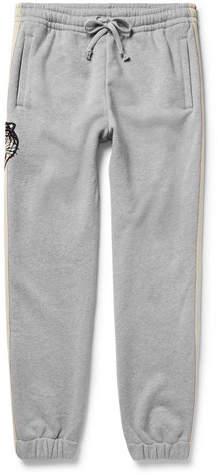 Gucci Appliquéd Loopback Cotton-Jersey Sweatpants