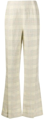 Acne Studios checked flared trousers