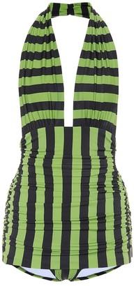 Norma Kamali Halter Bill one-piece swimsuit
