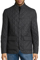 Michael Kors Quilted Button-Front Blazer