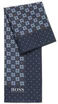 Hugo Boss Traditionally inspired patterned scarf in cotton with silk