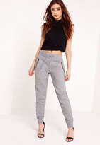 Missguided Zip Detail Joggers Grey