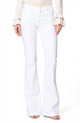 Paige Genevieve Button Fly Flare Jeans