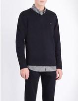 Tommy Hilfiger V-neck cotton and cashmere-blend jumper