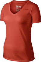 Nike Solid V-Neck T-Shirt