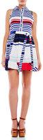 Milly Marina Sleeveless Striped Shirtdress
