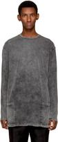 The Viridi-anne Grey Long Sleeve Double Pocket T-Shirt