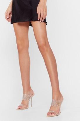 Nasty Gal Womens Shine On Pointed Stiletto Mules - Beige - 5, Beige