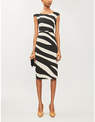 Max Mara Blasone striped stretch-woven mini dress