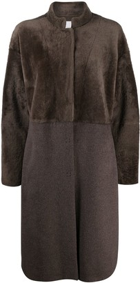 Fabiana Filippi Shearling Panelled Single-Breasted Coat