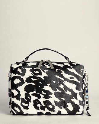 Calvin Klein Leopard Faux Leather Crossbody