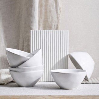The White Company Portobello White Cereal Bowl Set of 6, White, One Size