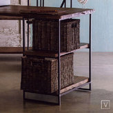 Rustic Rattan Desk Baskets Set of 2