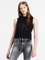Calvin Klein Jeans Cropped Logo Tank Top