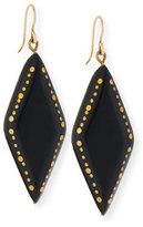 Ashley Pittman Kaimu Studded Dark Horn Drop Earrings