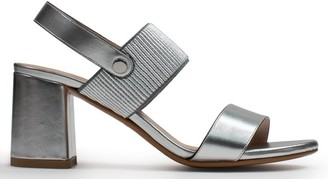 Albano Deal Silver Leather Sling Back Sandals