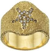 Carolina Bucci Pavé Sparkly Shield Ring
