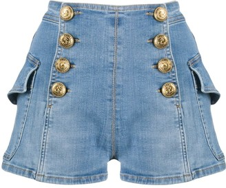 Elisabetta Franchi High Rise Denim Shorts