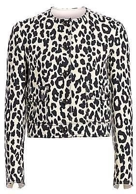 Akris Punto Women's Boxy Leopard Print Jacket