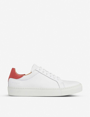 LK Bennett Tokyo contrast-heel leather trainers