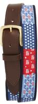 Vineyard Vines Men's Americana Patchwork Belt