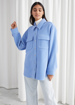 And other stories Oversized Wool Blend Workwear Shirt