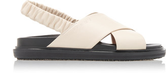 Marni Slingback Leather Sandals