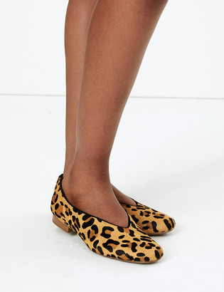 Marks and Spencer Leather High Cut Ballet Pumps