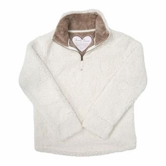 Pavilion Gift Company Pavilion - Forever Friend - XXLarge Women's Warm Cozy Sherpa House Sweatshirt Cream