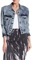 Alice + Olivia Chloe Crop Denim Jacket