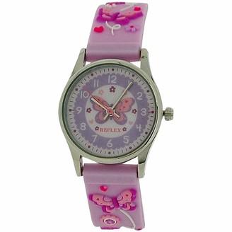 Reflex Active Reflex Girls Analogue Classic Quartz Watch with Rubber Strap REFK0012