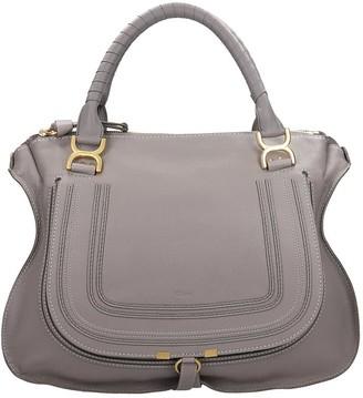 Chloé Mercie Big Shoulder Bag In Grey Leather