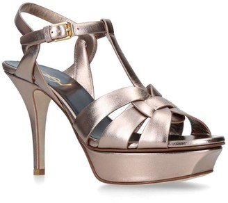 Saint Laurent Metallic Leather Tribute Sandals 75