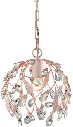 Artistic Home & Lighting Circeo 1 Light Pendant In Light Pink