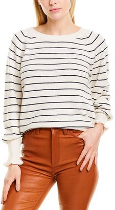 Rebecca Taylor Striped Wool-Blend Sweater