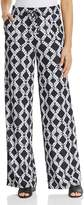 Donna Karan Lattice Print Wide-Leg Pants