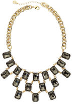 JCPenney MONET JEWELRY Monet Gray Crystal Gold-Tone Statement Necklace